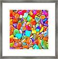 Pop Rocks Abstract Framed Print