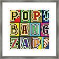 Pop Words Framed Print