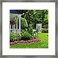 Porch And Garden Framed Print by Elena Elisseeva