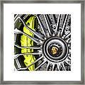 Porsche 918 Wheel Framed Print