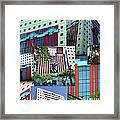 Portland Building Collage Framed Print