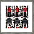 Portrait Of A Sleepy Guard Framed Print