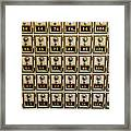 Post Office Combination Lock Boxes Framed Print