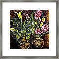 Pots And Flowers Framed Print