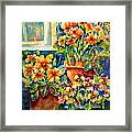 Potted Pansies II Framed Print by Ann  Nicholson