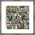 Pow Wow Collage Framed Print