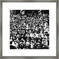 Premier Benito Mussolini Of Italy Back Framed Print