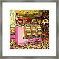 Pretty In Pink Bar Stools And Slots Reserved For Spring Break High Rollers   Framed Print