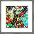 Prickly Pear Cactus And Friends, Southwestern Region Framed Print