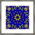 Primary Colors Fractal Kaleidoscope Framed Print