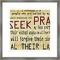 Prophetic Call  Framed Print