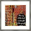 Proverbs 10 29 Framed Print