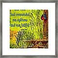 Psalm 119 138 Framed Print