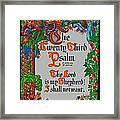 Psalms 23-1 Framed Print