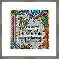 Psalms 23-3 Framed Print