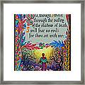 Psalms 23-4a Framed Print