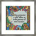 Psalms 23-5a Framed Print