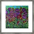 Psychedelic  Flower Garden Framed Print