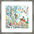 Psychedelic Goddess With Toads Framed Print