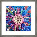Psychedelic Squid 2 Framed Print