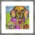 Puggle Puppy Love Framed Print