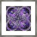 Purple And Silver Celtic Cross Framed Print