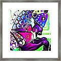 Purple Carousel Horse Framed Print