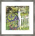 Purple Garden Gate Framed Print