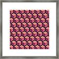 Purple Hexagonal Pattern Framed Print