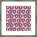 Purple Hibiscus Pattern Framed Print