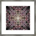 Purple Shield Framed Print