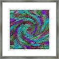Purple Swirl Ripples Framed Print
