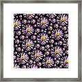 Purplish And Daisy Like Framed Print