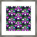 Pyramid Dome Triangle Purple Elegant Digital Graphic Signature   Art  Navinjoshi  Artist Created Ima Framed Print