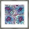 Quatro Floral - 11ac04 Framed Print
