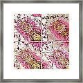 Quatro Floral - 22a Framed Print