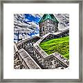 Quebec City Fortress Gates Framed Print