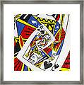Queen Of Spades Collage Framed Print