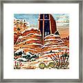 Quiet Snowfall  Sedona  Arizona Framed Print