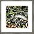 Quiet Time At The Park. Framed Print