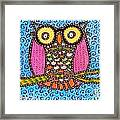 Quilted Judge Owl Framed Print