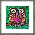 Quilted Mr Owl Esquire Framed Print
