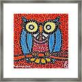 Quilted Professor Owl Framed Print