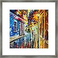 Quito Ecuador - Palette Knife Oil Painting On Canvas By Leonid Afremov Framed Print