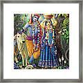 Radha-krishna Radhakunda Framed Print by Lila Shravani