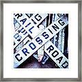 Railroad Crossings Framed Print