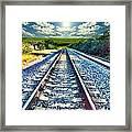 Railroad To Heaven Framed Print