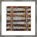 Railroad Track With Gravel 2 Framed Print