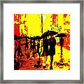 Rain Framed Print by David Alvarez