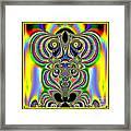 Rainbow Alien Owls Fractal 57 Framed Print